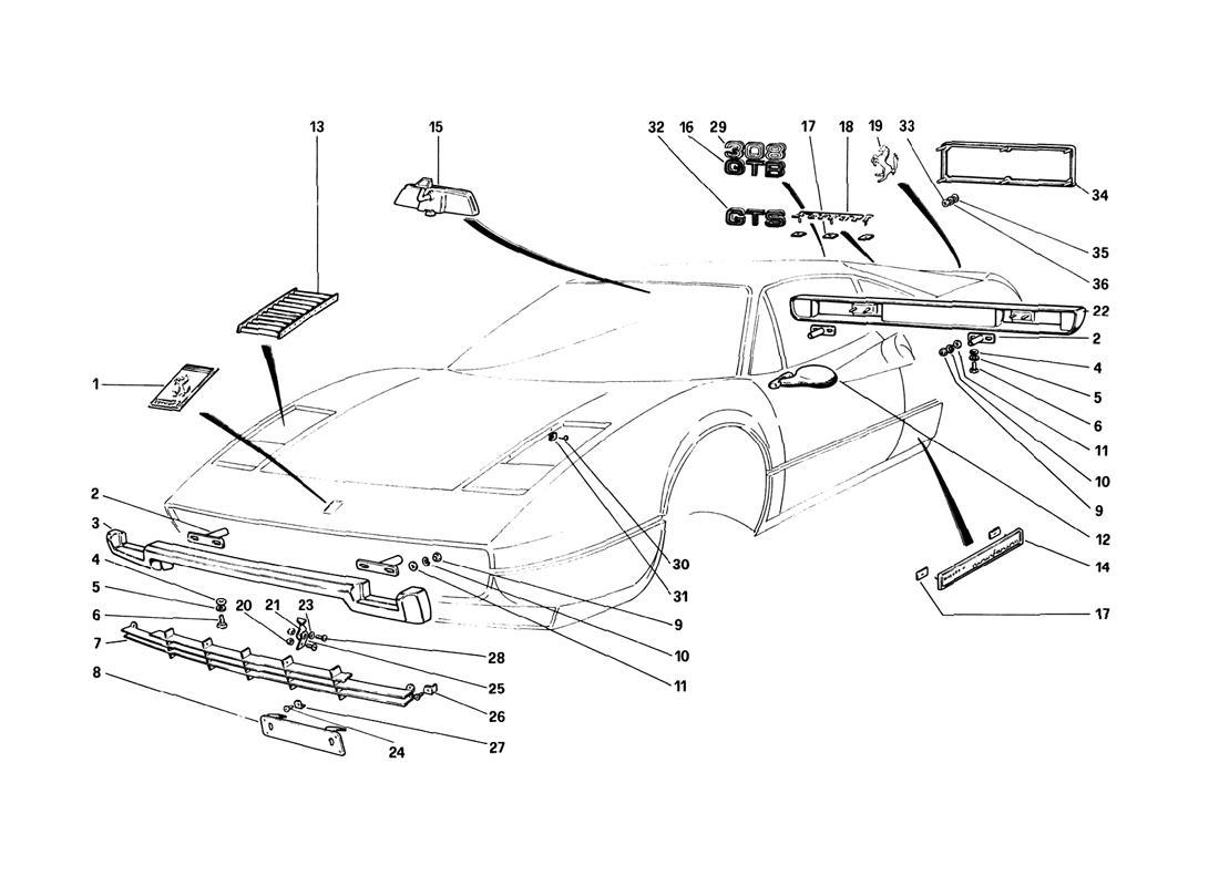 Diagram Search For Ferrari 308 Gtb 1980 Ferrparts Fuse Box