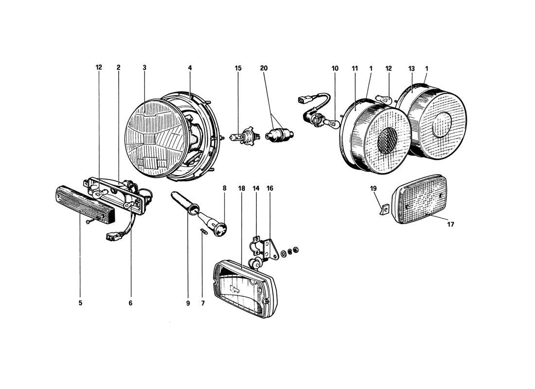 Diagram Search For Ferrari 308 Gtb 1980 Ferrparts Wiring
