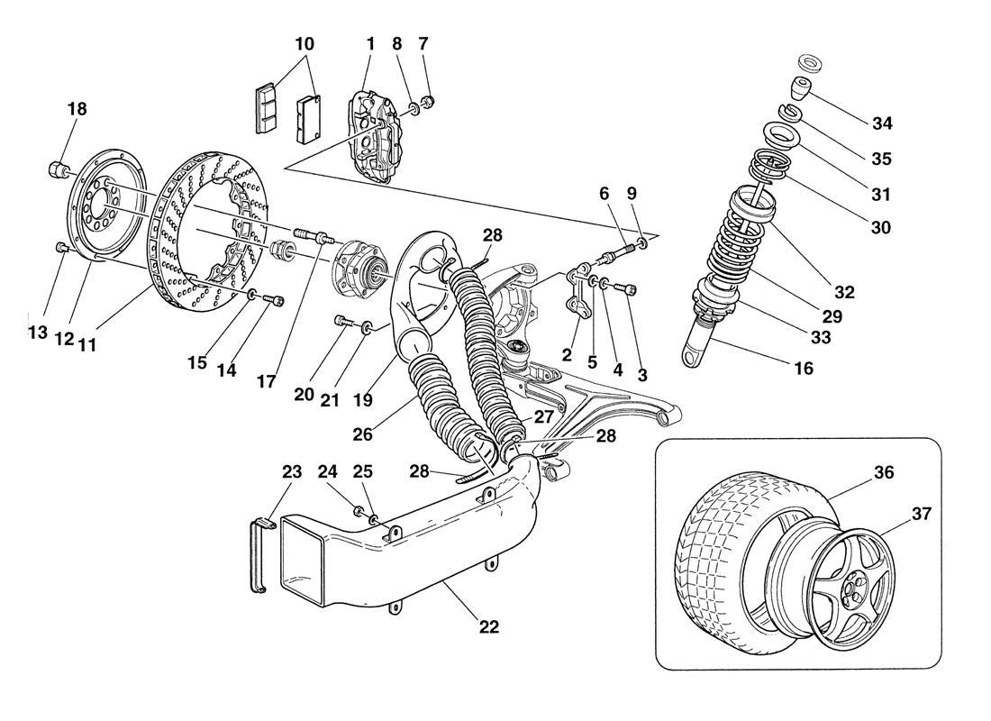 Ferrari 355 Challenge LH Front Brake Air Duct, # 62975600