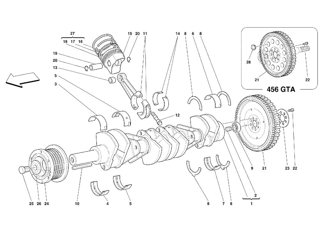 Diagram Search for Ferrari 456 GT - FerrpartsFerrparts