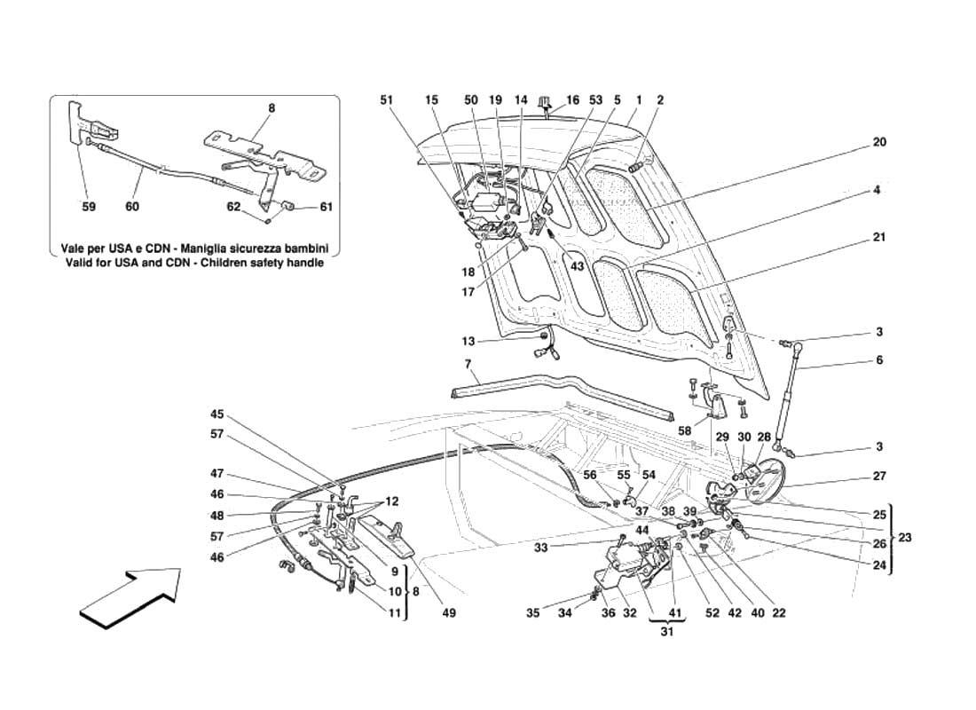 Diagram Boot Door And Petrol Cover 116 Ferrparts 1984 Maserati Biturbo Wiring