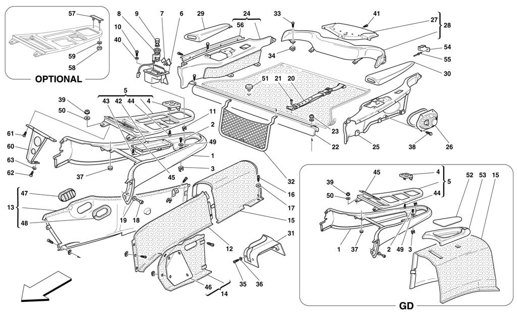 Diagram Search For Ferrari 550 Maranello Ferrparts Exploded View Classic Parts