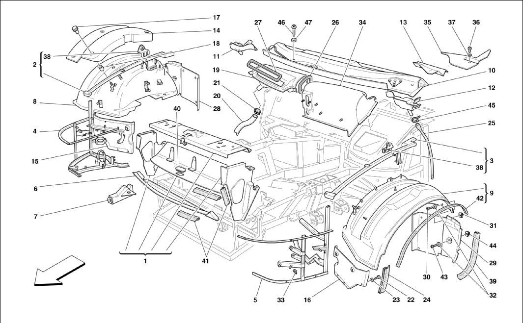diagram search for ferrari 575m maranello - ferrparts on ferrari 458  spider, ferrari 512 tr