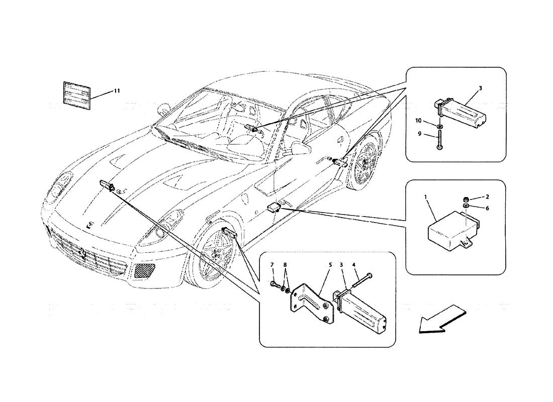 diagram search for ferrari 599 gtb fiorano ferrparts rh ferrparts com Ferrari 599 Engine Ferrari California