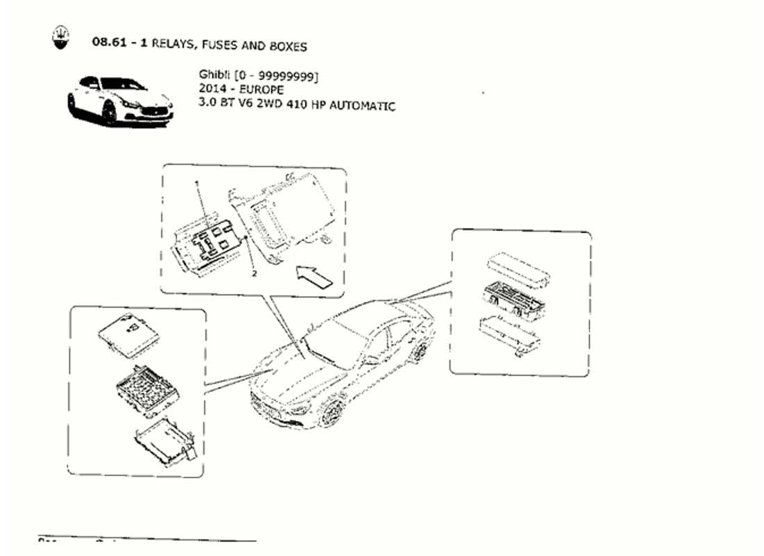 Diagram - RELAYS, FUSES AND BOXES: 084 - Ferrparts   2003 Maserati Coupe Fuse Box      Ferrparts