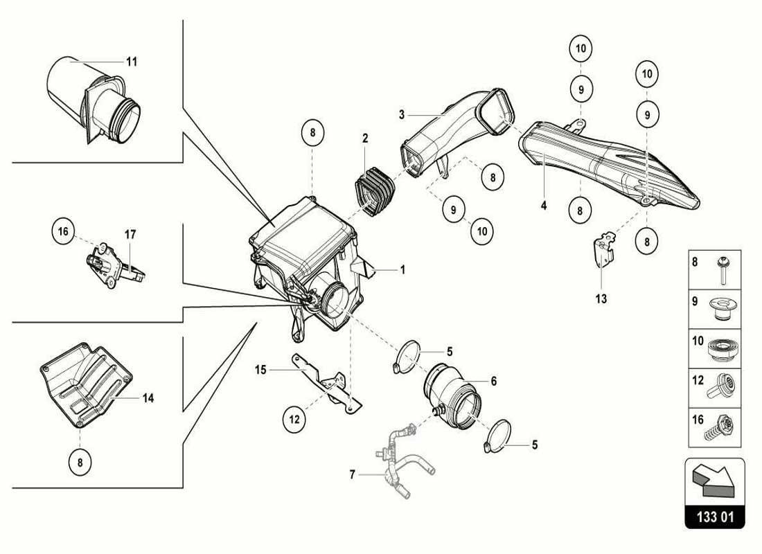 Diagram Search For Lamborghini Huracan Lp610 4 Coupe Ferrparts Engine Diagrams